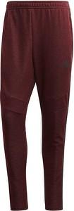 Czerwone spodnie sportowe Adidas z bawełny