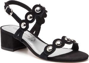 Sandały Tamaris ze skóry ekologicznej w stylu casual na obcasie