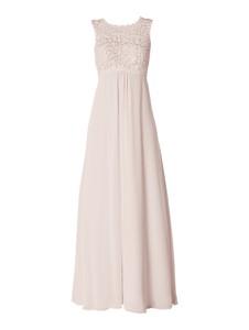 Różowa sukienka Christian Berg Cocktail bez rękawów z szyfonu