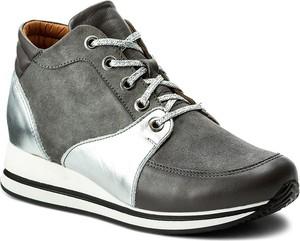 d65555fae039b Szare buty sportowe kazar ze skóry bez wzorów