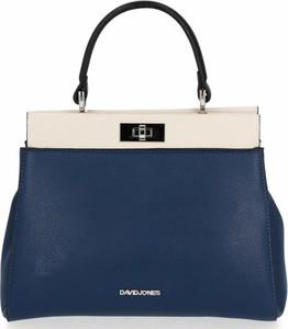 Niebieska torebka David Jones ze skóry na ramię