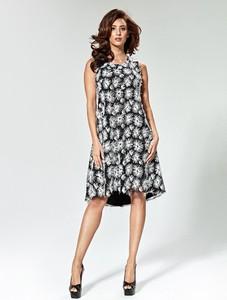 Sukienka Marselini bez rękawów z tkaniny