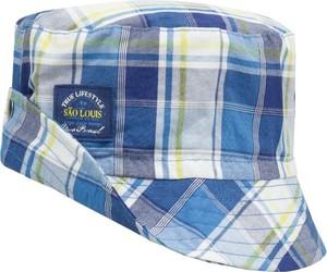 Niebieska czapka Döll w krateczkę