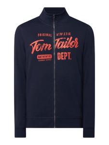Granatowa bluza Tom Tailor z bawełny w młodzieżowym stylu