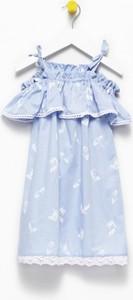 Niebieska sukienka dziewczęca Banana Kids
