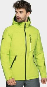 Żółta kurtka 4F w sportowym stylu