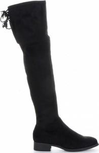 Czarne kozaki Belluci z zamszu