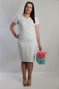 Sukienka Oscar Fashion midi ołówkowa z krótkim rękawem