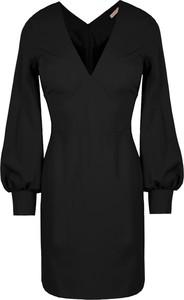 Czarna sukienka Makover z tkaniny mini