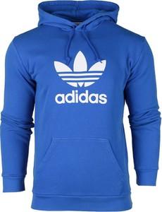 Niebieska bluza Adidas z bawełny z nadrukiem