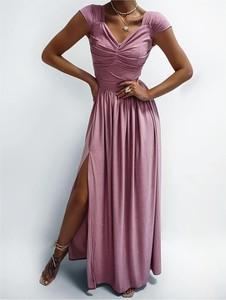 Różowa sukienka Ella Boutique maxi