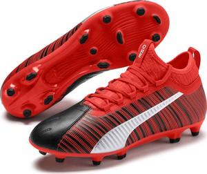 Czerwone buty sportowe Puma ze skóry