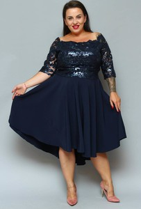 Sukienka KARKO z długim rękawem