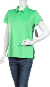 Zielona bluzka Nike z krótkim rękawem z dekoltem w kształcie litery v