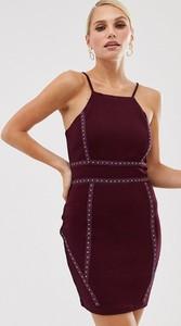 Fioletowa sukienka Ax Paris mini na ramiączkach
