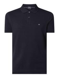 Granatowa koszulka polo Christian Berg Men w stylu casual z krótkim rękawem