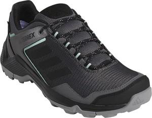 Buty trekkingowe Adidas sznurowane z płaską podeszwą