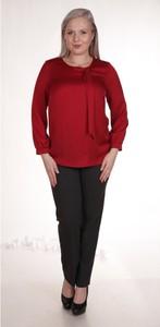 Bluzka Fokus z okrągłym dekoltem z długim rękawem w stylu casual