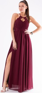 bf6e82ce66 Czerwona sukienka Eva Lola bez rękawów z dekoltem halter