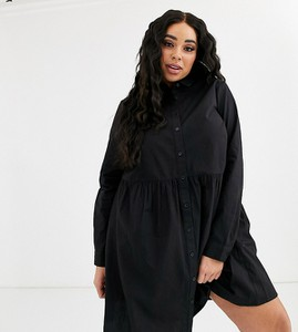 Czarna sukienka Asos oversize mini