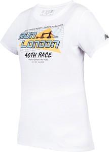 Bluzka New Balance w sportowym stylu z bawełny z krótkim rękawem