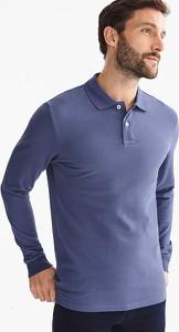 Koszulka polo ANGELO LITRICO z bawełny z długim rękawem