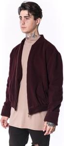 Czerwona kurtka Theg Clothing w stylu casual z kaszmiru