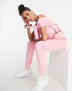 Różowe spodnie Adidas Originals