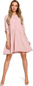 Sukienka MOE z długim rękawem z tkaniny mini