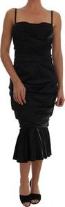 Sukienka Dolce & Gabbana z bawełny gorsetowa