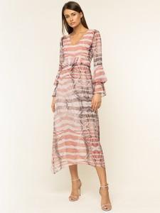 Sukienka Trussardi Jeans z dekoltem w kształcie litery v maxi