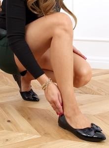 Baleriny Buty Damskie ze skóry ekologicznej z płaską podeszwą