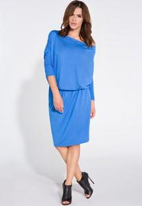 Sukienka TAGLESS z długim rękawem oversize z lnu