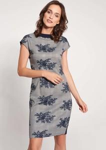 Sukienka QUIOSQUE z okrągłym dekoltem w stylu casual ołówkowa