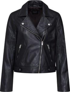 Czarna kurtka Selected Femme w rockowym stylu krótka