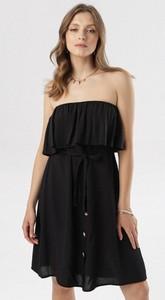 Czarna sukienka born2be rozkloszowana bez rękawów