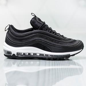 Czarne buty sportowe Nike air max sznurowane w sportowym stylu