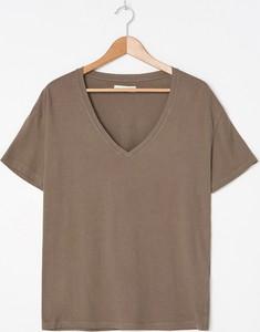 T-shirt House w stylu casual z bawełny z krótkim rękawem