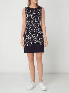 Granatowa sukienka Montego w stylu casual z okrągłym dekoltem bez rękawów