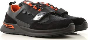 Buty sportowe Prada w młodzieżowym stylu ze skóry sznurowane
