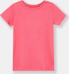 Różowa koszulka dziecięca Sinsay z krótkim rękawem