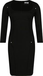 Sukienka Versace Jeans dopasowana z długim rękawem