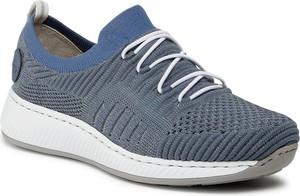 Buty sportowe Rieker na platformie sznurowane