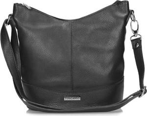 Czarna torebka Toscanio średnia na ramię