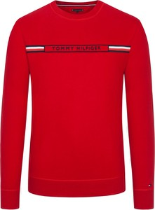 Czerwona bluza Tommy Hilfiger w młodzieżowym stylu z bawełny