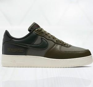Zielone buty sportowe Nike sznurowane ze skóry