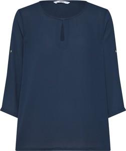 Niebieska bluzka Only z dekoltem typu choker z długim rękawem