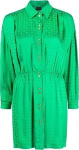 Sukienka Pinko z żakardu z kołnierzykiem w stylu casual