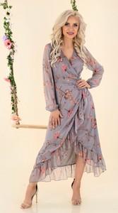 Sukienka MERRIBEL z długim rękawem z dekoltem w kształcie litery v