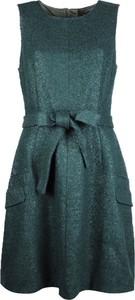 Zielona sukienka Tommy Hilfiger z tkaniny mini